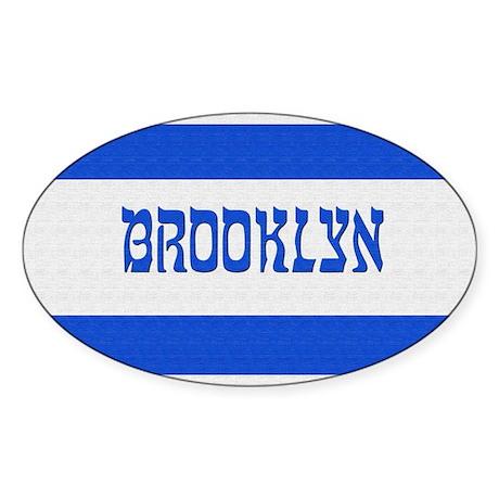 Israeli Brooklyn Flag - Oval Sticker