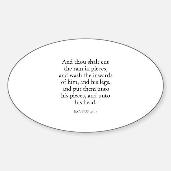 EXODUS 29:17 Oval Decal