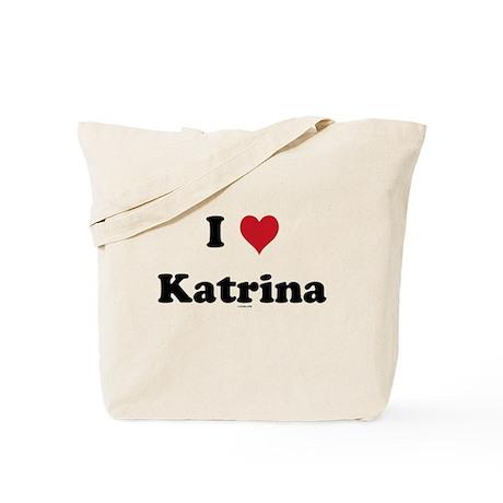 I love Katrina Tote Bag