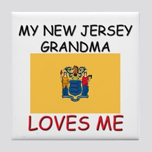 My New Jersey Grandma Loves Me Tile Coaster