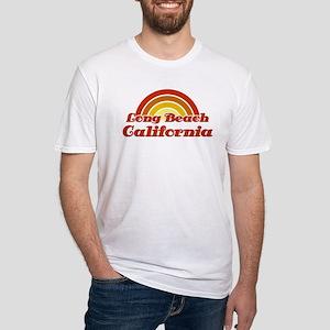 Long Beach Sunset Fitted T-Shirt