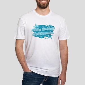 Blue Long Beach Fitted T-Shirt