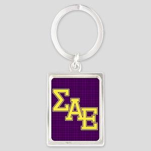 Sigma Alpha Epsilon Letters Keychains