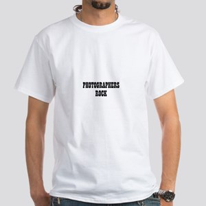 PHOTOGRAPHERS ROCK White T-Shirt