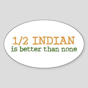 Half Indian Oval Sticker