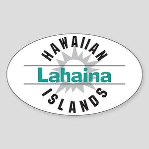 Lahaina Maui Hawaii Oval Sticker