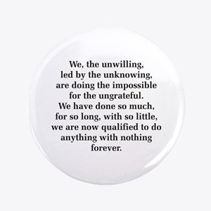 "We The Unwilling 3.5"" Button"