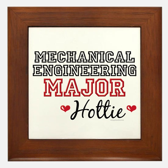 Mech E Major Hottie Framed Tile