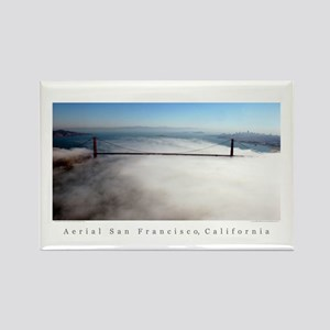golden gate fog gifts Rectangle Magnets
