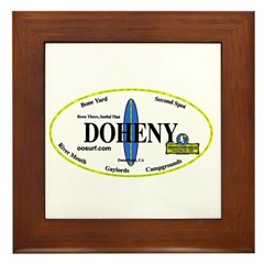 Doheny Surf Spots Framed Tile