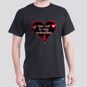 Valentine cat Dark T-Shirt