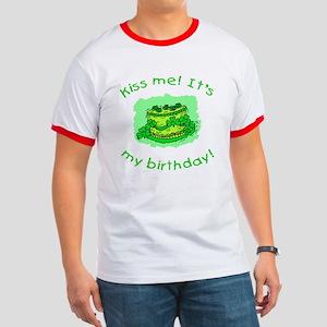 Irish Birthday with Shamrock Cake Ringer T