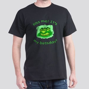 Irish Birthday with Shamrock Cake Dark T-Shirt
