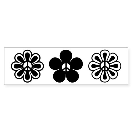 Peace Flowers Bumper Sticker