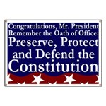 New President Oath of Office Banner