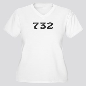 732 Area Code Women's Plus Size V-Neck T-Shirt