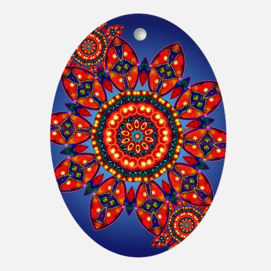 Apache Star Oval Ornament