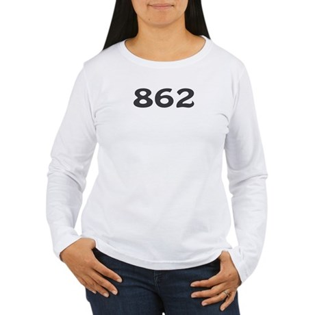 862 Area Code Women's Long Sleeve T-Shirt