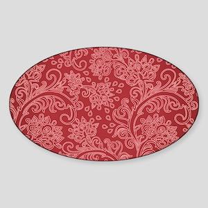 Paisley Damask Red Vintage Pattern Sticker