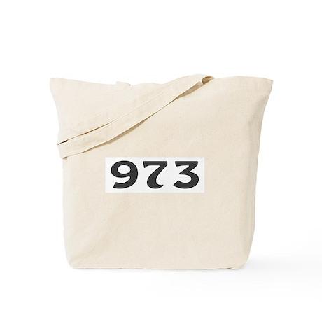 973 Area Code Tote Bag