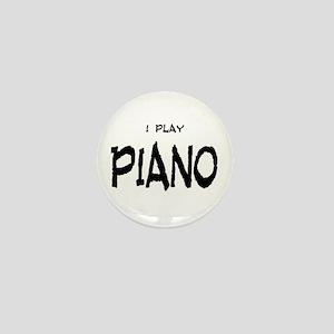 I Play Piano Mini Button