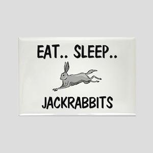Eat ... Sleep ... JACKRABBITS Rectangle Magnet
