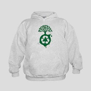 Tree Recycle Planet Kids Hoodie