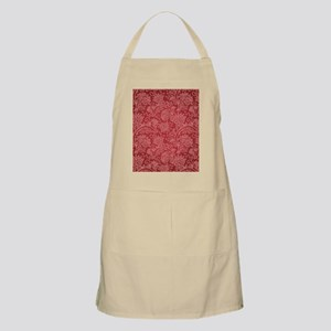 Paisley Damask Red Vintage Pattern Light Apron