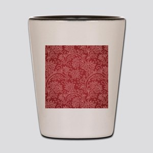 Paisley Damask Red Vintage Pattern Shot Glass