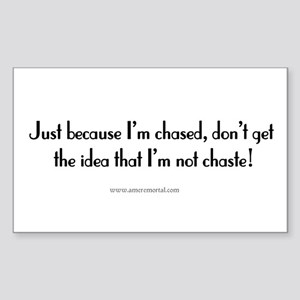 Chased - but Chaste Rectangle Sticker