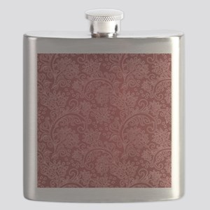 Paisley Damask Red Vintage Pattern Flask