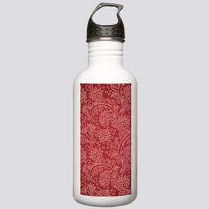 Paisley Damask Red Vin Stainless Water Bottle 1.0L