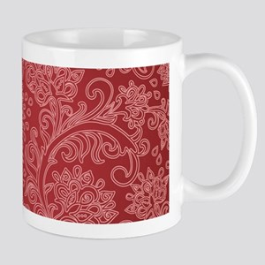 Paisley Damask Red Vintage Pattern Mugs