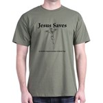Jesus saves on tuesdays Dark T-Shirt