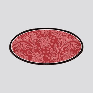 Paisley Damask Red Vintage Pattern Patch