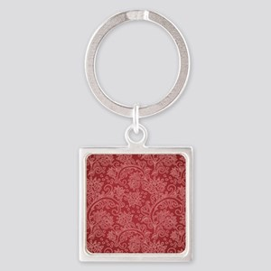 Paisley Damask Red Vintage Pattern Keychains