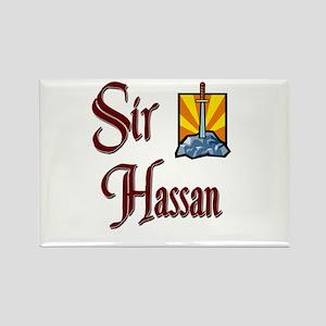 Sir Hassan Rectangle Magnet