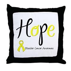 Hope Bladder Cancer Throw Pillow