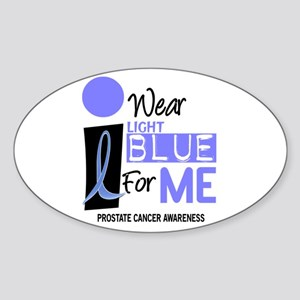 I Wear Light Blue For Me 9 Oval Sticker