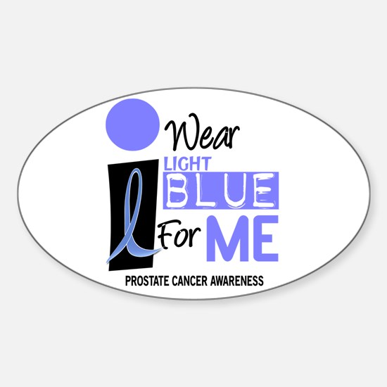 I Wear Light Blue For Me 9 Oval Decal