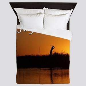 Joy: sunrise over the river Queen Duvet