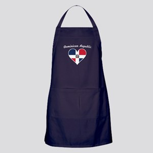 Dominican Republic Flag Heart Apron (dark)