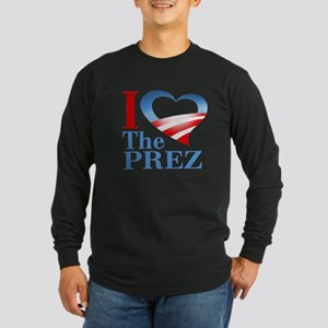 I Heart The Prez Long Sleeve Dark T-Shirt