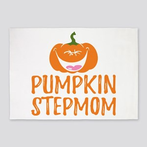 Pumpkin Stepmom Cute Halloween 5'x7'Area Rug