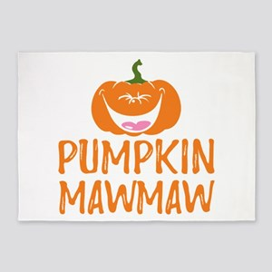 Pumpkin Mawmaw Cute Halloween 5'x7'Area Rug