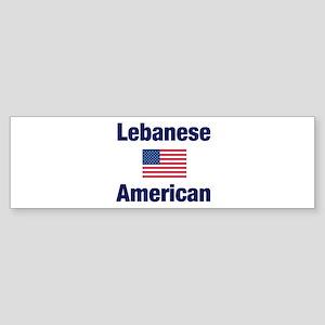 Lebanese American Bumper Sticker