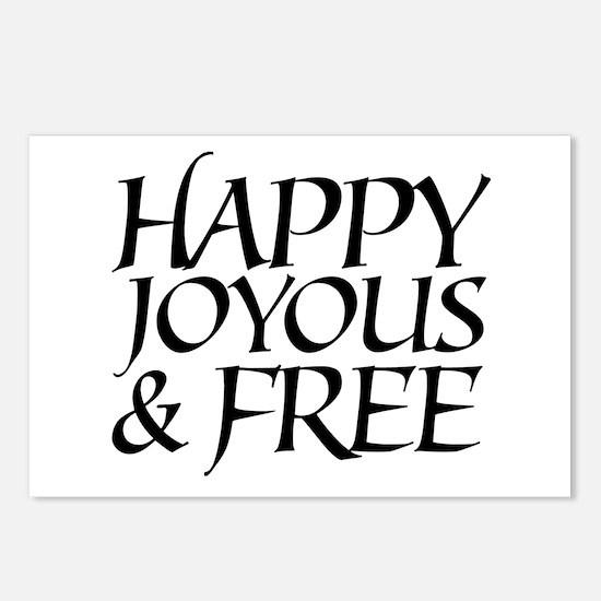 Happy Joyous & Free Postcards (Package of 8)