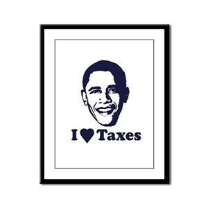 I Love Taxes Framed Panel Print