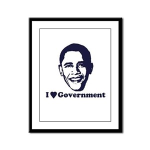 I Love Government Framed Panel Print