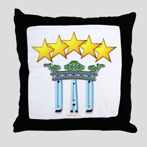 5 Star Mugs Dad with Stars and Crown Throw Pillow